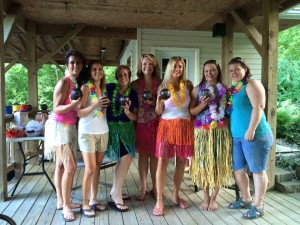 Hawaiian Party Friends